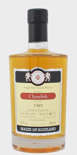 Clynelish 1989, 22 year old, Malts of Scotland 2012